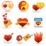 Valentine\'s day icon set Royalty Free Stock Image