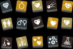 Valentine's Day icon set Stock Photography