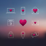 Valentine's Day Icon Set Royalty Free Stock Photography