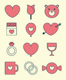 Valentine's Day Icon Set Royalty Free Stock Images