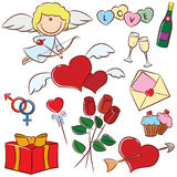 Valentine's Day icons Stock Image