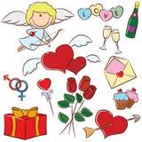 Valentine's Day icons Stock Image