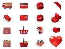 Valentine's day icons Stock Images