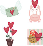 Valentine's Day icons Stock Photos