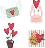 Valentine's Day icons Stock Photos