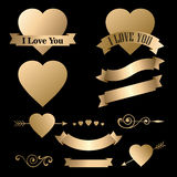 Valentine's day icons collection items vector Stock Photography