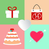 Valentine's Day icons Royalty Free Stock Image