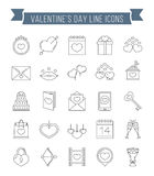 Valentine`s Day Icons Royalty Free Stock Photography