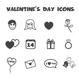 Valentine's day icons Royalty Free Stock Photo