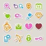 Valentine's day icons set. Stock Photos