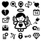 Valentine's day icons set. Stock Photography