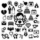 Valentine's day icons set. Stock Image