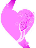 Valentine's Day illustration. Vector illustration of pink heart Royalty Free Stock Photo