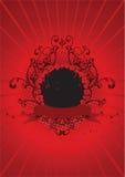 Valentine's day illustration. Valentine's day emblem illustration, red Stock Image