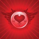 Valentine's day illustration. Valentine's day emblem illustration, red Stock Photo