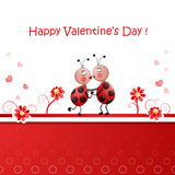 Valentine's day illustration with cute couple Stock Photo