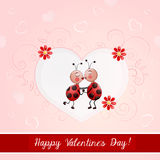 Valentine's day illustration with cute couple Stock Image