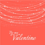 Valentine's Day Illustration with Delicate Royalty Free Stock Image