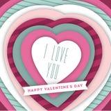 Valentine`s day illustration Stock Images