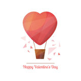 Valentine's Day  illustration in modern geometric design style. Happy Valentine's Day  illustration in modern geometric design style with abstract polygonal Stock Photos