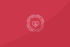 Valentine`s Day Illustration. Simple is always complicated in love Stock Photo