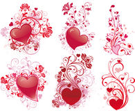 Valentine's day illustrations Royalty Free Stock Image