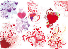Valentine's day illustrations Stock Image