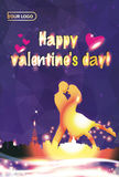 Valentine`s day illustrations design Royalty Free Stock Photo