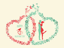 Valentine's day infographic. Flat style love graphic template Royalty Free Stock Image