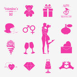 Valentine's day infographic. Flat style love graphic template Royalty Free Stock Images