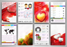 Valentine's day Infographic template brochure Stock Photo