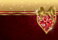 Valentine's day invitation card Stock Images