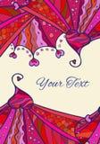 Valentine's Day invitation card Royalty Free Stock Photography