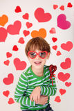 Valentine's Day: Kids Fun Royalty Free Stock Image