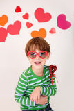 Valentine's Day: Kids Fun Stock Images