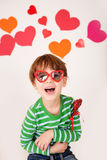 Valentine's Day: Kids Fun Stock Photo