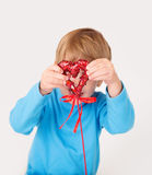 Valentine's Day: Kids Fun Royalty Free Stock Photos