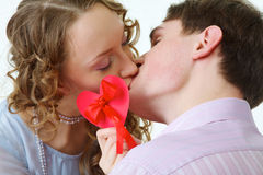 Valentine's Day Kiss Stock Images