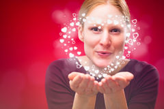 Valentine's Day Kiss - a Heart Stock Image