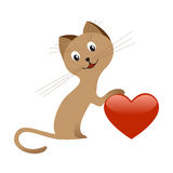 Valentine's day kitten Stock Photography