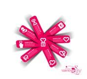 Valentine's Day Label Design Element. Valentine's Day Vector Label Design Element Stock Image