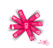 Valentine's Day Label Design Element Stock Image
