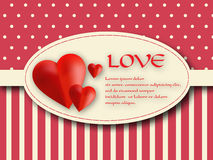 Valentine's day label Stock Photography