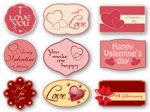 Valentine's day label Royalty Free Stock Photo