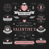 Valentine's Day Labels and Cards Set, Heart Icons Royalty Free Stock Photos