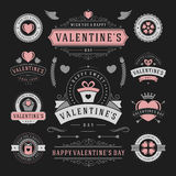 Valentine's Day Labels and Cards Set, Heart Icons Royalty Free Stock Image