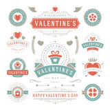 Valentine's Day Labels and Cards Set, Heart Icons Royalty Free Stock Images