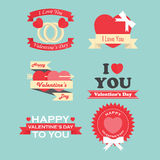 Valentine's day labels, icons elements and badges collection Royalty Free Stock Photos