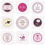 Valentine's Day Labels. Set. This is file of EPS8 format Royalty Free Stock Photography