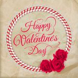 Valentine's day lacy paper heart card. EPS 10 Royalty Free Stock Image